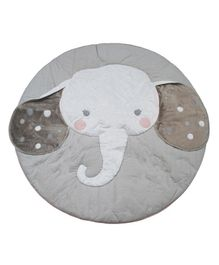 Abracadabra Plush Quilted Play Mat Elephant Design - Grey