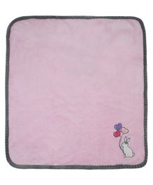 Honey Bunny Coral Baby Blanket - Pink