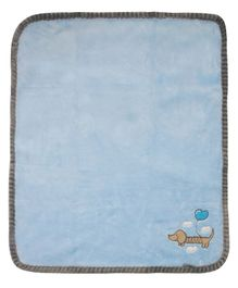 Honey Bunny Coral Baby Blanket - Blue
