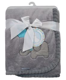 Honey Bunny Coral Baby Blanket - Grey