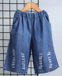 Kookie Kids Full Length Denim Culotte - Blue