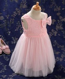 Kookie Kids Party Frock Bow Detail - Light Pink
