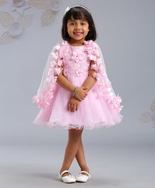 29394639f6 Mark & Mia Frocks Flower Applique & Embroidered Sleeveless Dress - Pink