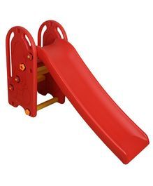 NHR Plastic Garden Slide With Built In Swing - Red