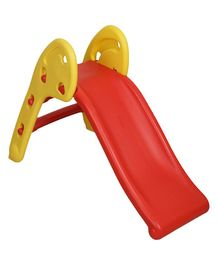 NHR Plastic Garden Slide - Red Yellow