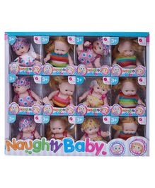 NHR Naughty Baby Dolls Set of 12 - Multicolour