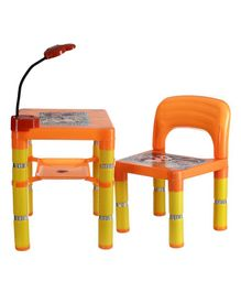 NHR Table Chair Set With LED Light - Orange