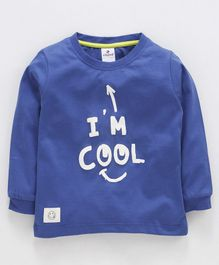 Ollypop Full Sleeves Supima Cotton Tee I'm Cool Print - Blue