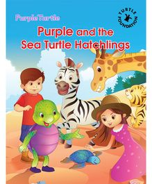 Turtle Foundation Purple And The Sea Turtle Hatchlings - English