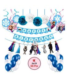 Party Propz Frozen Theme Party Decoration Set Blue - Pack of 66