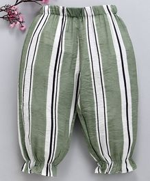 Lekeer Kids Striped Balloon Pajama - Green