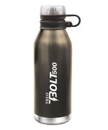 TREO By Milton Bolt Vaccum Insulated Hot & Cold Bottle Metallic Black - 500 ml