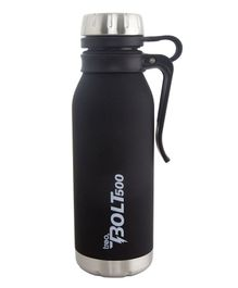 TREO By Milton Bolt with hook Vaccum Insulated Hot & Cold Bottle Black - 500 ml