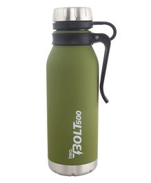 TREO By Milton Bolt with hook Vaccum Insulated Hot & Cold Bottle Green - 500 ml