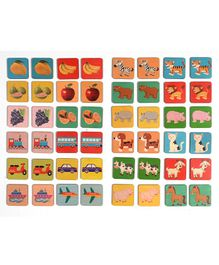 RK Cart Wooden Memory Matching Game Multicolour - 48 pieces