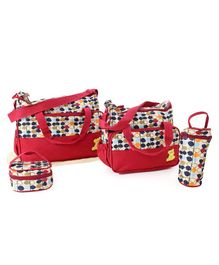 Multipiece Baby Diaper Bag Set - Red