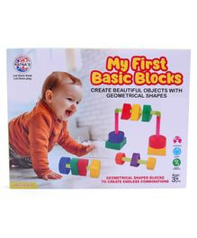 Ratnas My First Basic Blocks Multicolor - 39 Pieces