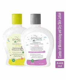 Donum Naturals Baby Combo Pack of Massage Oil & Moisturising Lotion - 220 ml