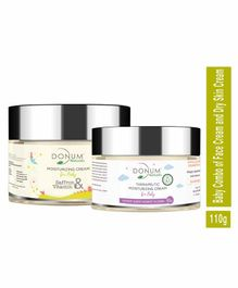 Donum Naturals Baby Combo Of Saffron, Vitamin F Cream & Dry Skin Moisturizing Cream - 60 gm & 50 gm