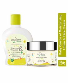 Donum Naturals Oatmeal , Vitamin F & Saffron Moisturizing Cream 60 g &  Lotion Combo For Baby - 220 ml