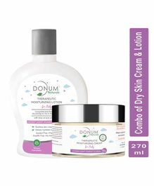 Donum Naturals Dry Skin Moisturizing Cream & Massage Oil in Lotion  Combo For Baby - 220 ml & 50 gm