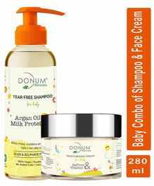 Donum Naturals Baby Combo of  Saffron Vitamin F Cream & Tear Free Shampoo - 220 ml