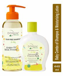 Donum Naturals Baby Combo Pack of Tear Free Shampoo & Oatmeal Vitamin F Lotion - 220 ml
