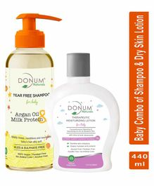 Donum Naturals Baby Combo Of Tear Free Shampoo & Therapeutic  Lotion for Dry Sensitive Skin - Each 220 ml