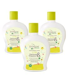 Donum Naturals Baby Oatmeal & Vitamin F Moisturising Lotion Pack of 3 - 220 ml