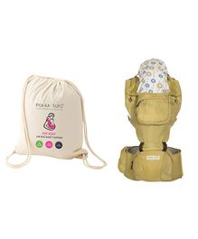 Polka Tots Baby Hip Seat Carrier - Cream