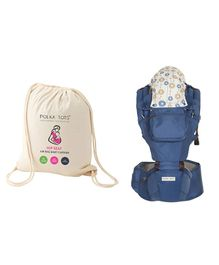 Polka Tots Baby Hip Seat Carrier - Blue
