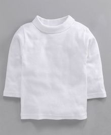 Pink Rabbit Full Sleeves High Neck Tee - White