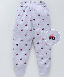 Pink Rabbit Full Length Knitted Lounge Pant Vehicle Print - Grey