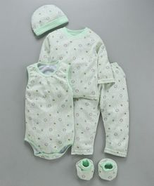 MFM 5 Piece Clothing Gift Set Allover Print - Green