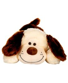 Dhoom Soft Toys Lying Dog Cream and Brown - Length 50 cm