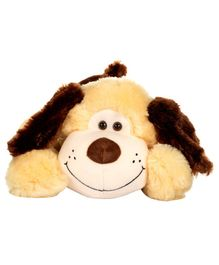 Dhoom Soft Toys Lying Dog Yellow and Brown - Length 50 cm