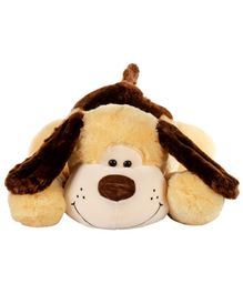Dhoom Soft Toys Lying Dog Yellow and Brown - Length 75 cm