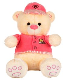 Dhoom Soft Toys Teddy Bear with Dress and Cap Pink - Height 53 cm