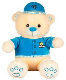 Dhoom Soft Toys Teddy Bear with Dress and Cap Blue - Height 53 cm