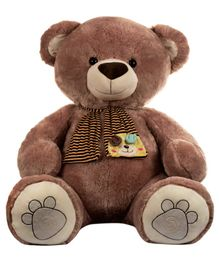 Dhoom Soft Toys Jumbo Teddy Bear with Love You Muffler Brown - Height 150 cm