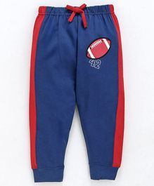 Cucumber Full Length Track Pants With Drawstrings - Red & Blue