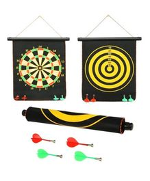 FunBlast Double Sided Magnet Dart Board Game - Black