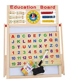 FunBlast Multipurpose Double-Sided Magnetic Wooden Writing Board - Multicolor