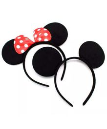 Funblast Mickey & Minnie Hair Band Pack of 2 - Black