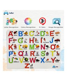 Funblast Wooden Alphabet Puzzles Multicolor - 26 Pieces