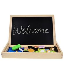 FunBlas 2 in 1 Magnetic & Wooden Chalkboard - Multicolour