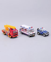 Centy Emergency Response Team Toy Vehicles Pack of 3 - Blue White & Red
