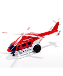 Centy Pull Back Air Ambulence Toy - Red & White