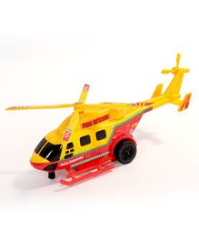 Centy Pull Fire Rescue Helicopter - Red & Yellow
