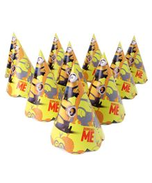 Karmallys Paper Caps With Minions Print Pack of  10 - Blue